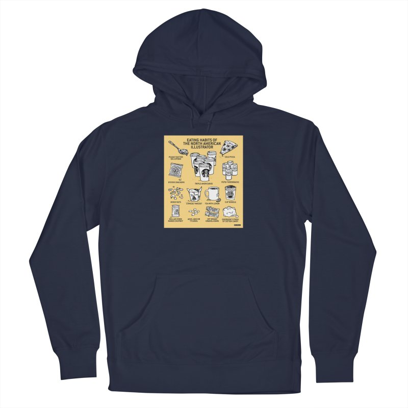 Eating Habits of the North American Illustrator Men's Pullover Hoody by DRAWMARK