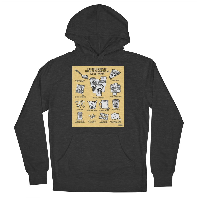 Eating Habits of the North American Illustrator Men's French Terry Pullover Hoody by DRAWMARK