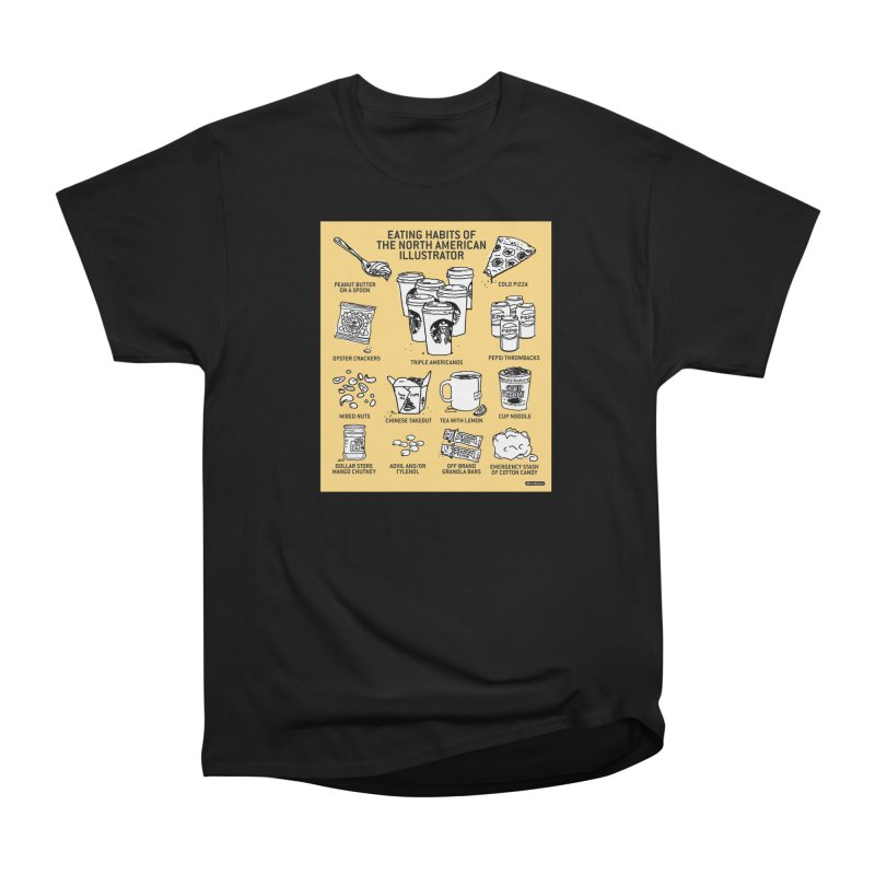 Eating Habits of the North American Illustrator Women's Heavyweight Unisex T-Shirt by DRAWMARK