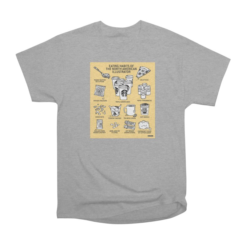 Eating Habits of the North American Illustrator Men's Heavyweight T-Shirt by DRAWMARK