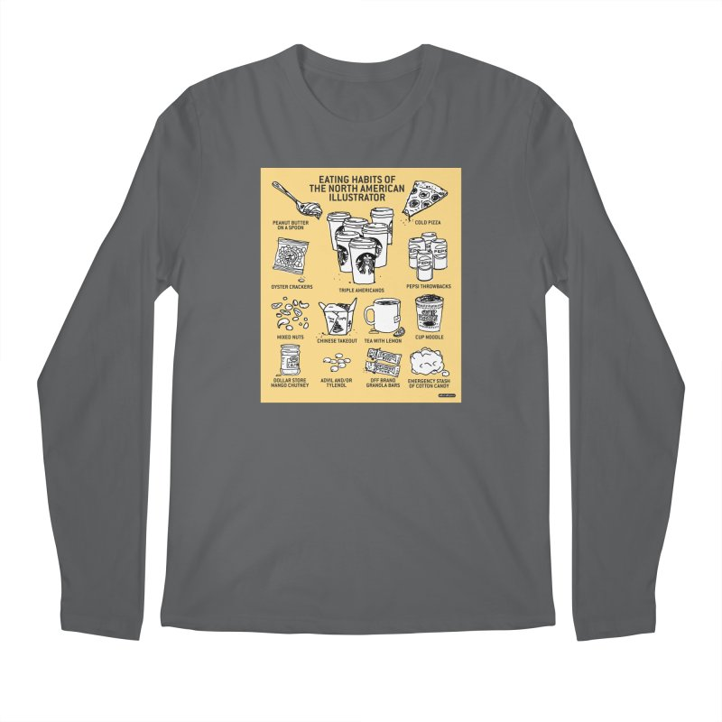 Eating Habits of the North American Illustrator Men's Longsleeve T-Shirt by DRAWMARK
