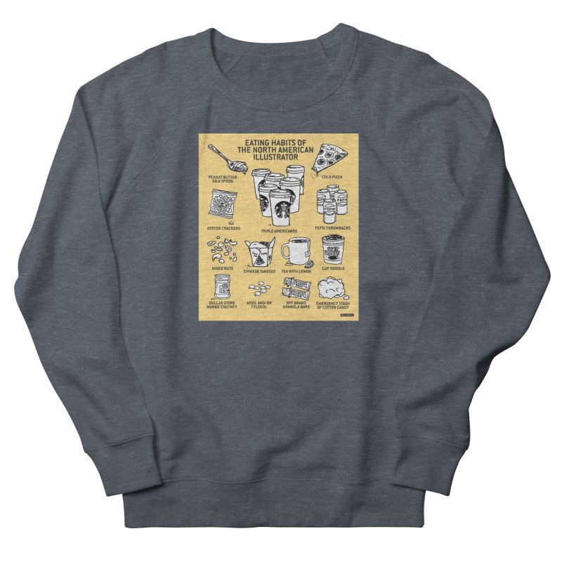 Eating Habits of the North American Illustrator Women's Sweatshirt by DRAWMARK