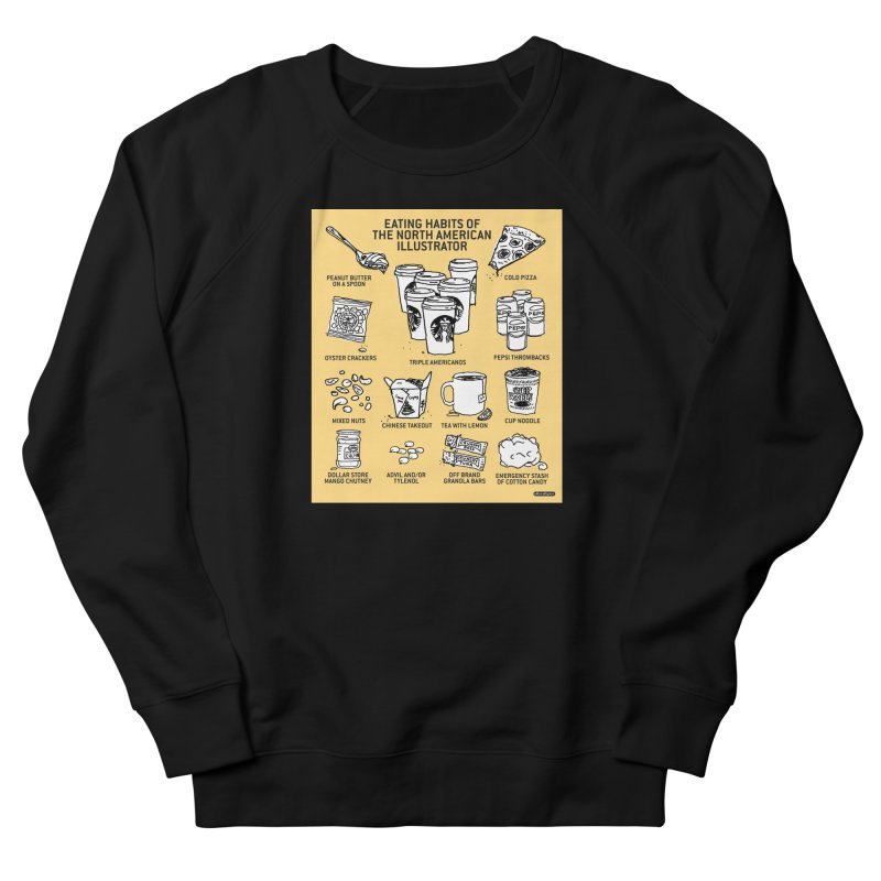 Eating Habits of the North American Illustrator Women's French Terry Sweatshirt by DRAWMARK