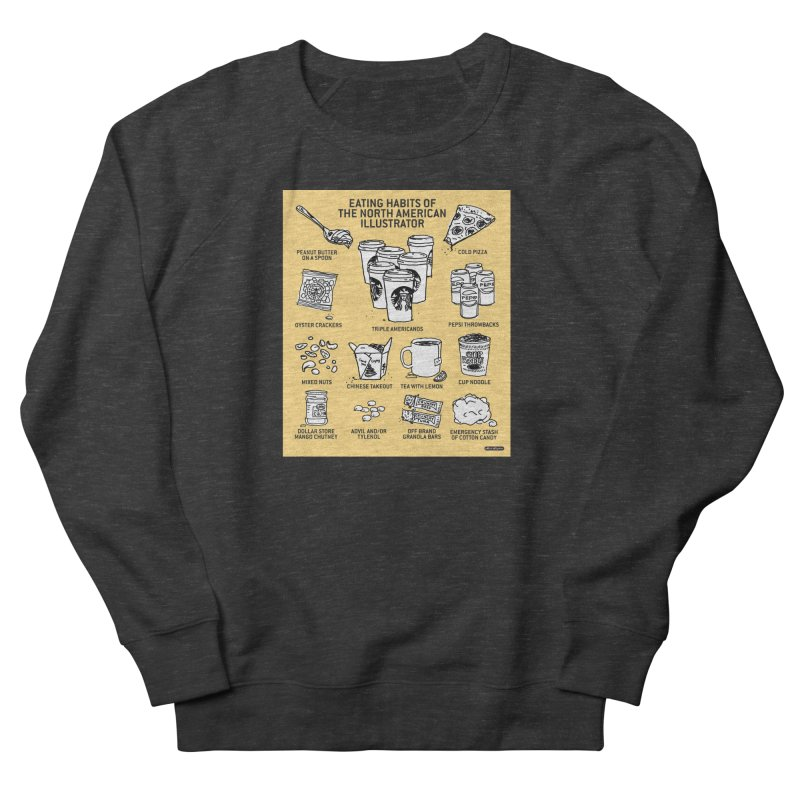 Eating Habits of the North American Illustrator Men's French Terry Sweatshirt by DRAWMARK