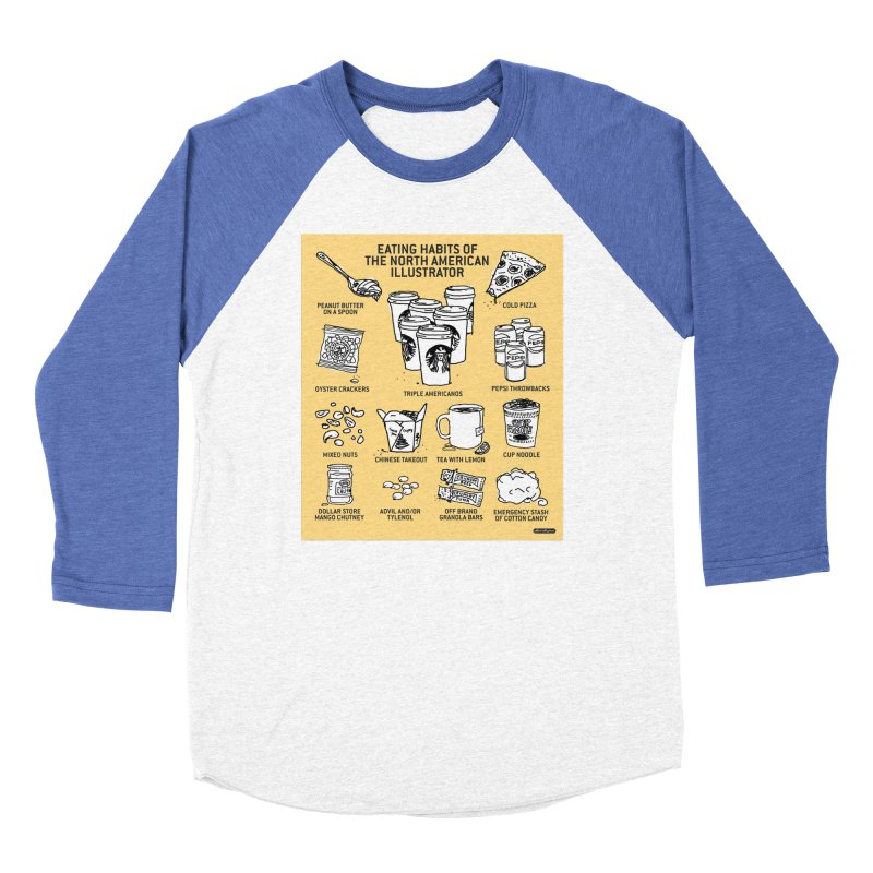 Eating Habits of the North American Illustrator Men's Baseball Triblend Longsleeve T-Shirt by DRAWMARK