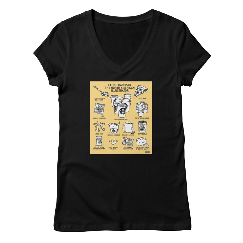 Eating Habits of the North American Illustrator Women's V-Neck by DRAWMARK
