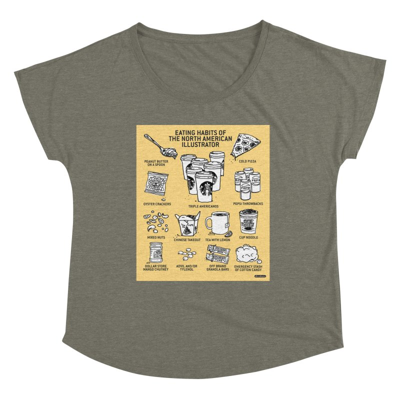Eating Habits of the North American Illustrator Women's Scoop Neck by DRAWMARK