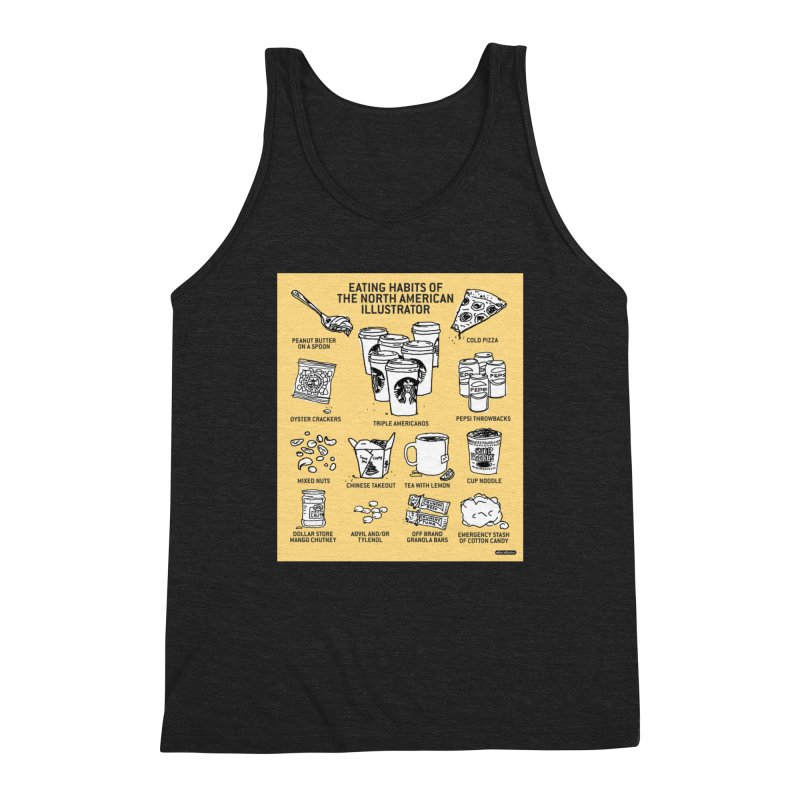 Eating Habits of the North American Illustrator Men's Tank by DRAWMARK