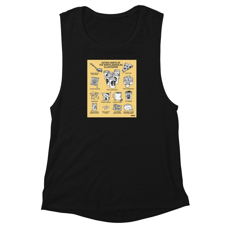 Eating Habits of the North American Illustrator Women's Muscle Tank by DRAWMARK
