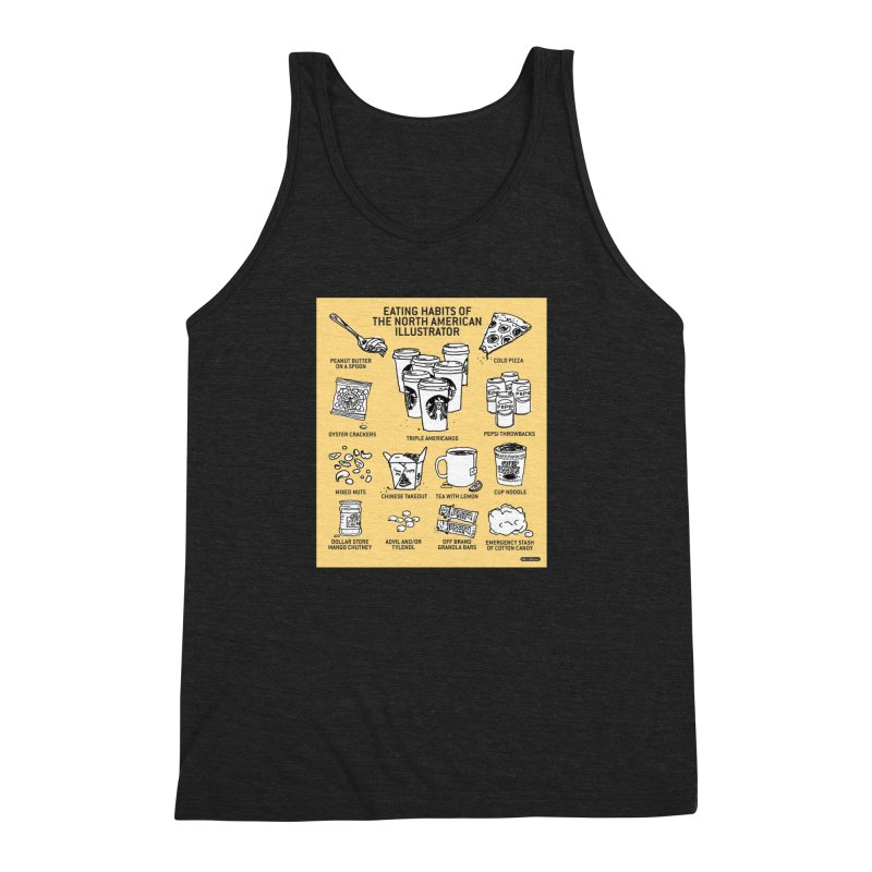 Eating Habits of the North American Illustrator Men's Triblend Tank by DRAWMARK