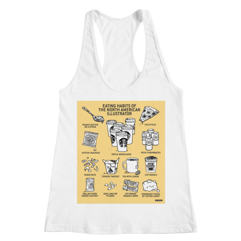 Eating Habits of the North American Illustrator Women's Racerback Tank by DRAWMARK