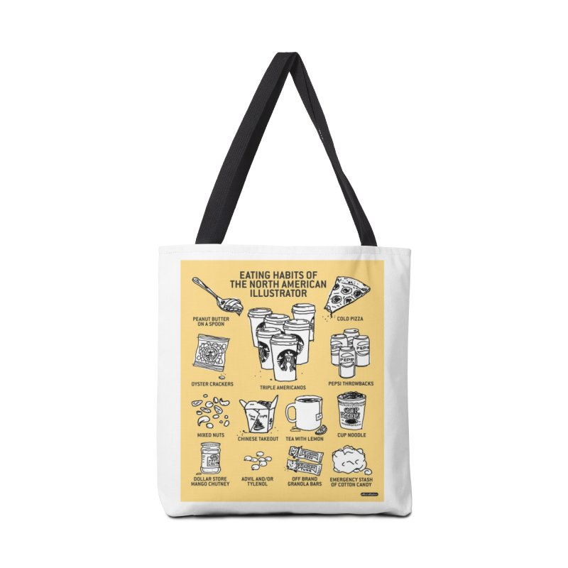 Eating Habits of the North American Illustrator Accessories Tote Bag Bag by DRAWMARK