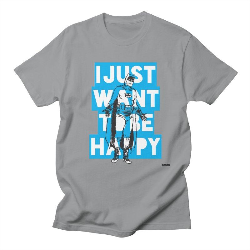 Happy Batman Men's T-Shirt by DRAWMARK