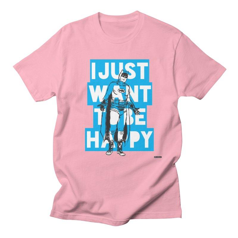Happy Batman Women's Unisex T-Shirt by DRAWMARK