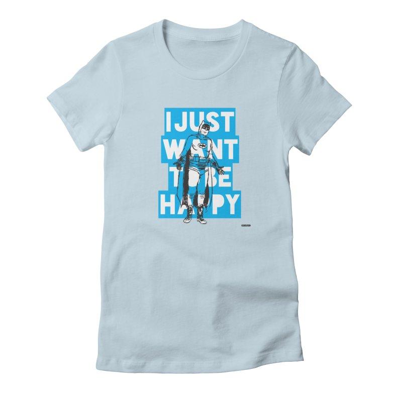 Happy Batman Women's T-Shirt by DRAWMARK