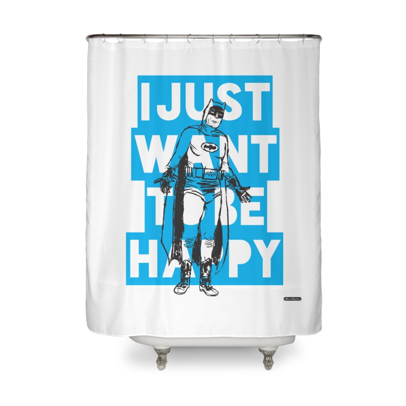 Happy Batman Home Shower Curtain by DRAWMARK