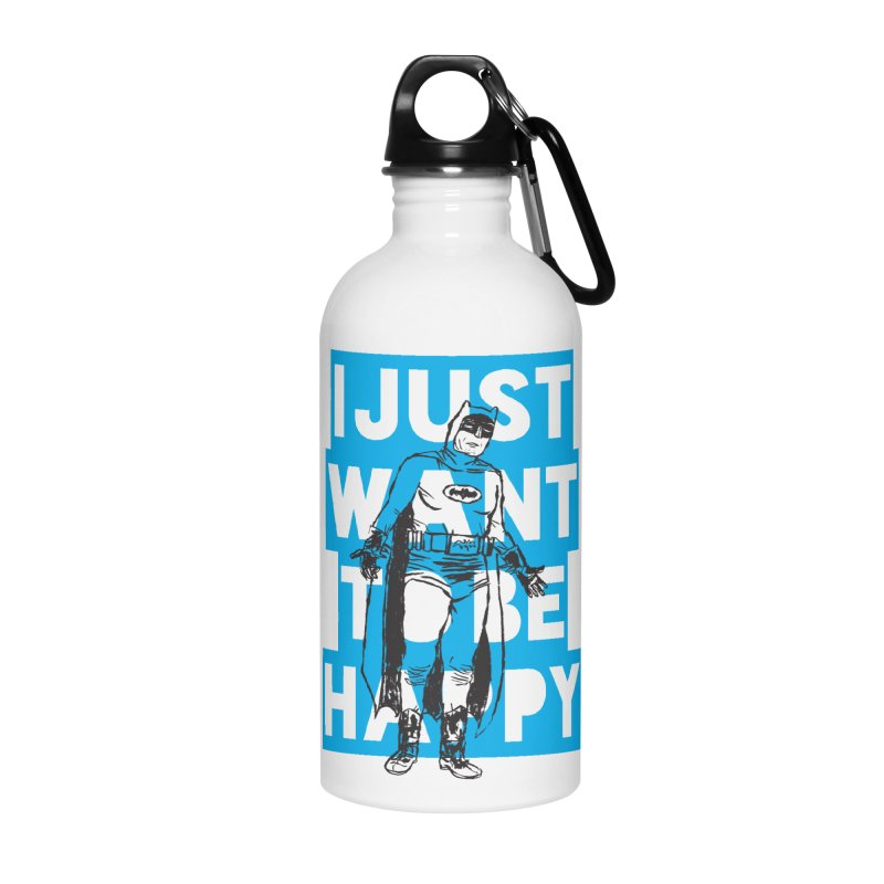 Happy Batman Accessories Water Bottle by DRAWMARK
