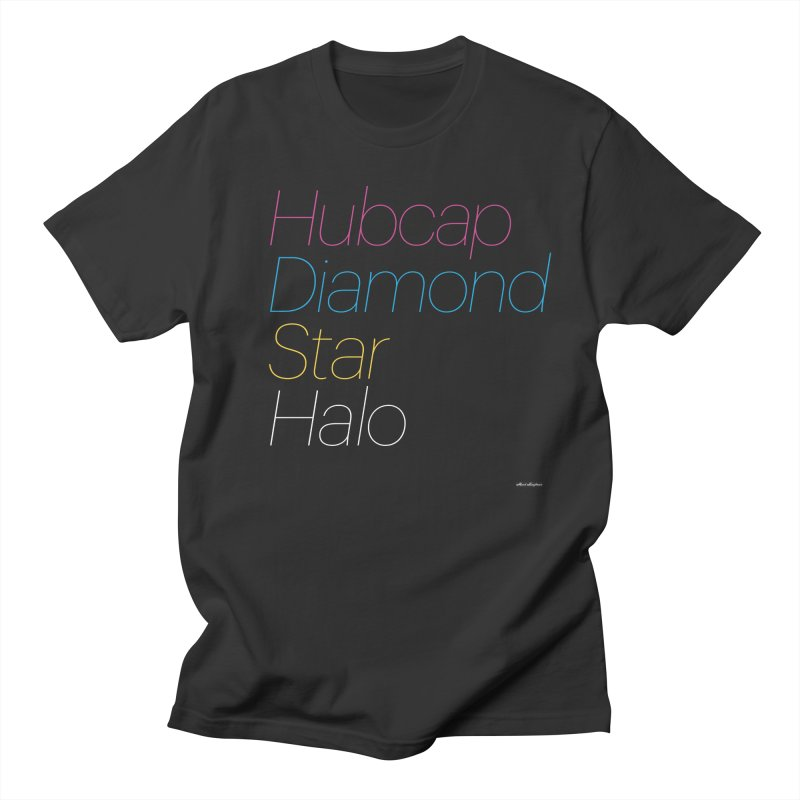 Hubcap Diamond Star Halo in Women's Regular Unisex T-Shirt Smoke by DRAWMARK