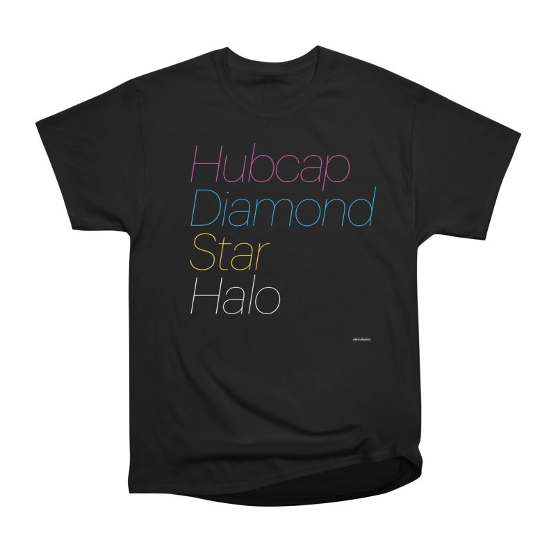 Hubcap Diamond Star Halo Men's Heavyweight T-Shirt by DRAWMARK