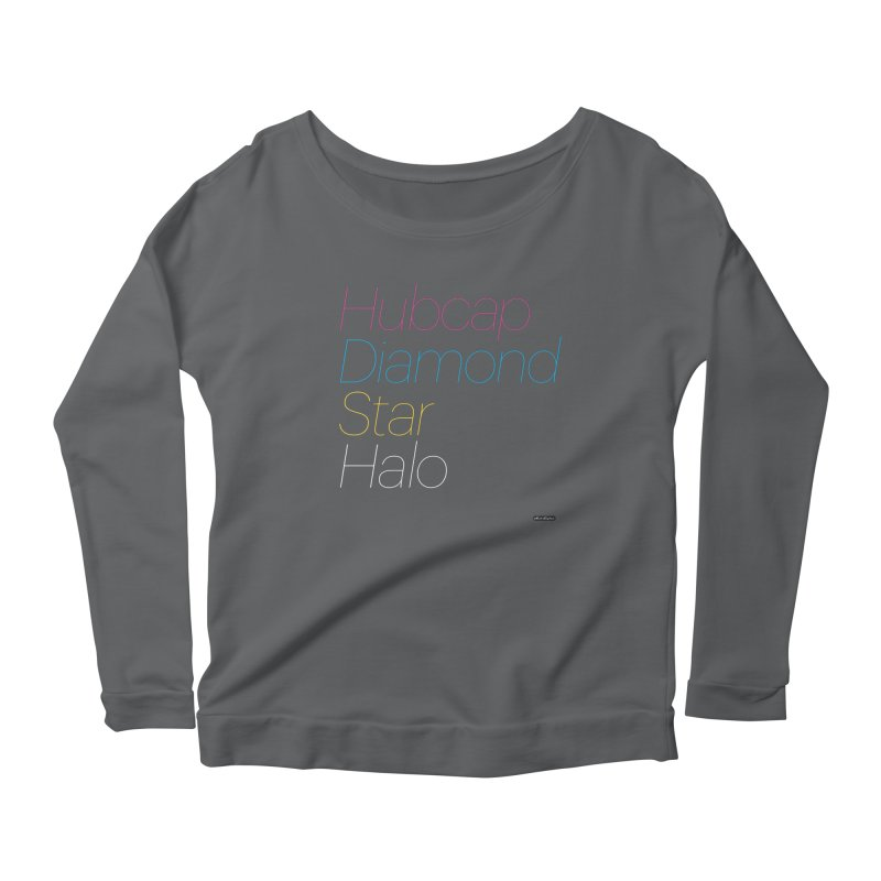 Hubcap Diamond Star Halo Women's Scoop Neck Longsleeve T-Shirt by DRAWMARK