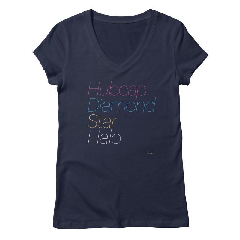 Hubcap Diamond Star Halo Women's Regular V-Neck by DRAWMARK