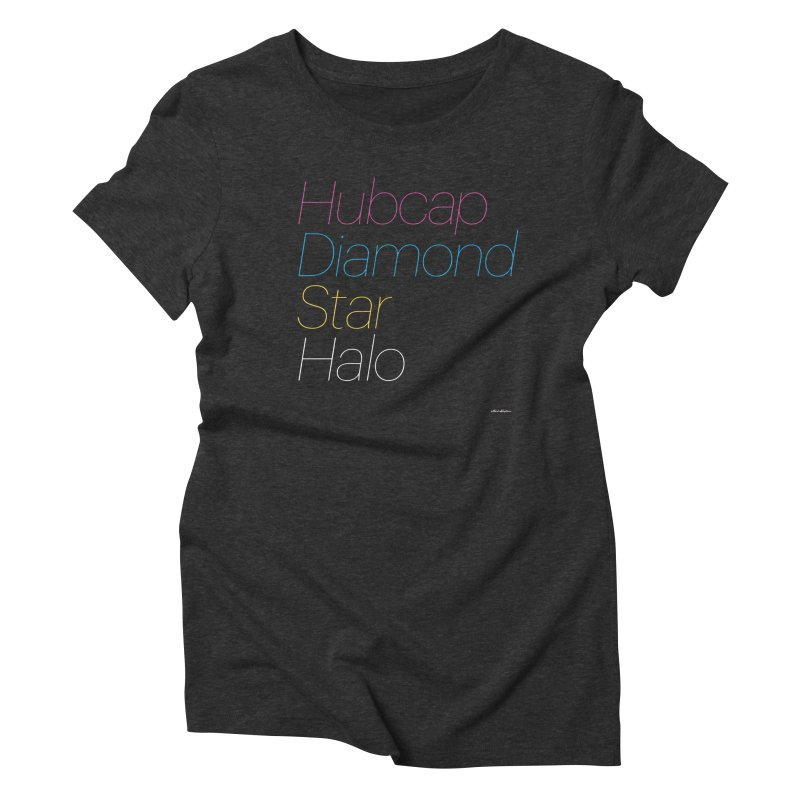 Hubcap Diamond Star Halo Women's Triblend T-Shirt by DRAWMARK