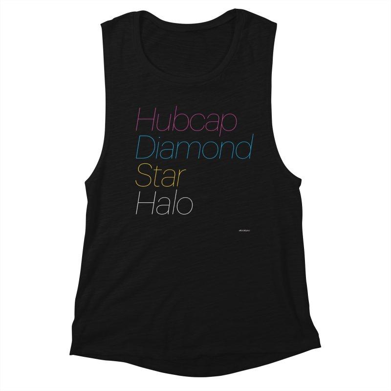 Hubcap Diamond Star Halo Women's Muscle Tank by DRAWMARK