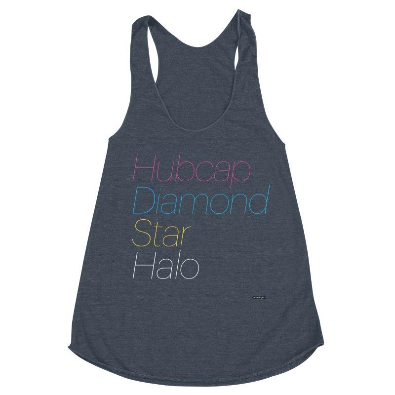 Hubcap Diamond Star Halo Women's Racerback Triblend Tank by DRAWMARK