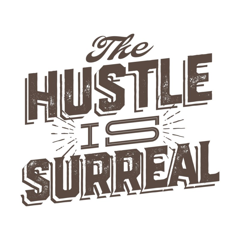 The Hustle is Surreal / Grey Men's Sweatshirt by DRAWMARK