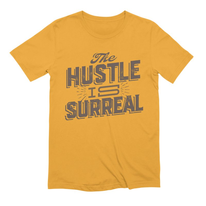 The Hustle is Surreal / Grey Men's Extra Soft T-Shirt by DRAWMARK