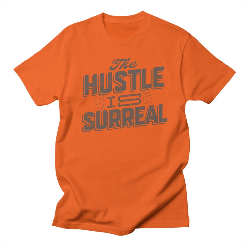 The Hustle is Surreal / Grey Men's T-Shirt by DRAWMARK