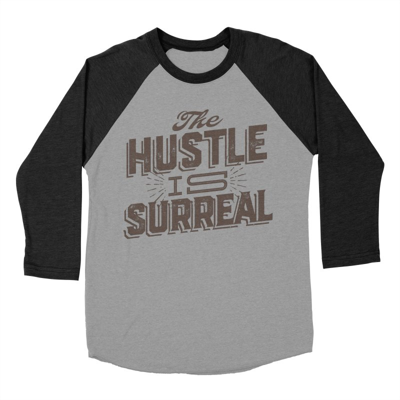 The Hustle is Surreal / Grey Men's Baseball Triblend Longsleeve T-Shirt by DRAWMARK