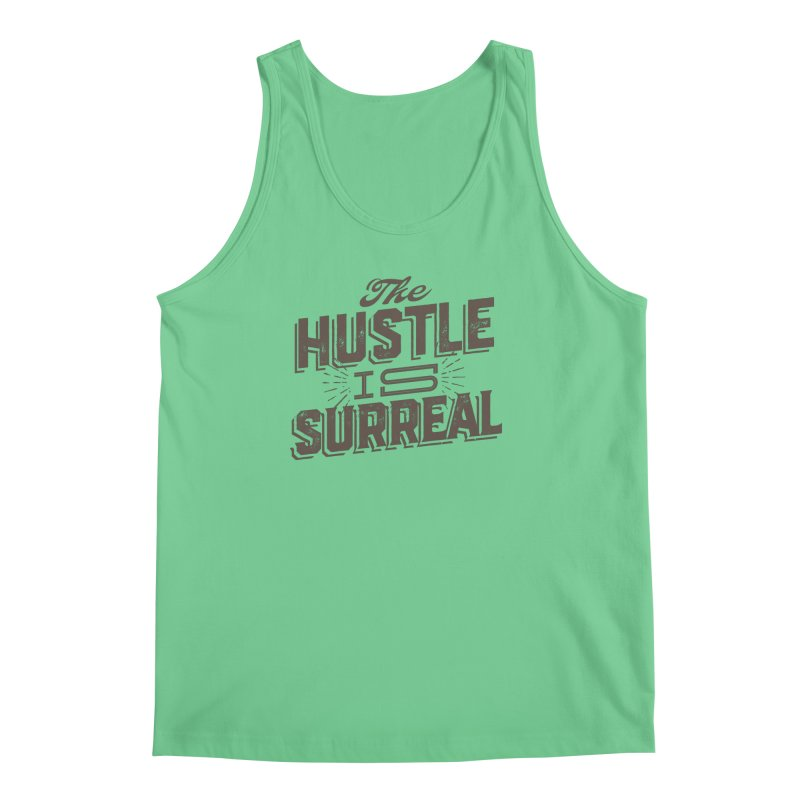 The Hustle is Surreal / Grey Men's Regular Tank by DRAWMARK