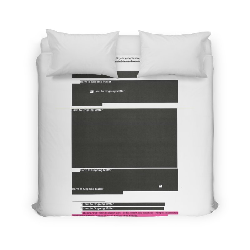 Redacted Mueller Report Page 18 Home Duvet by DRAWMARK