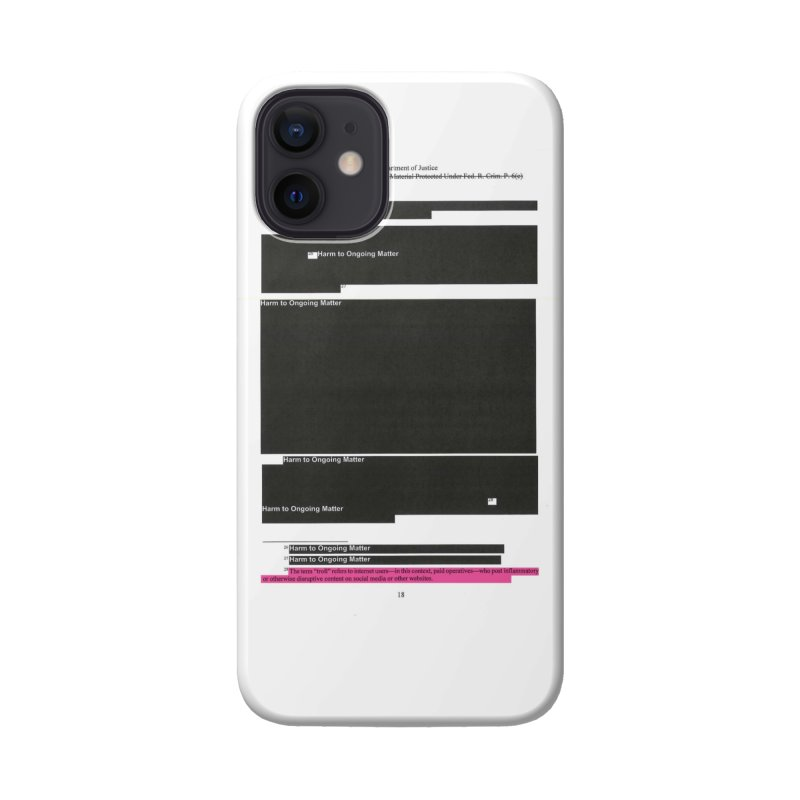 Redacted Mueller Report Page 18 Accessories Phone Case by DRAWMARK