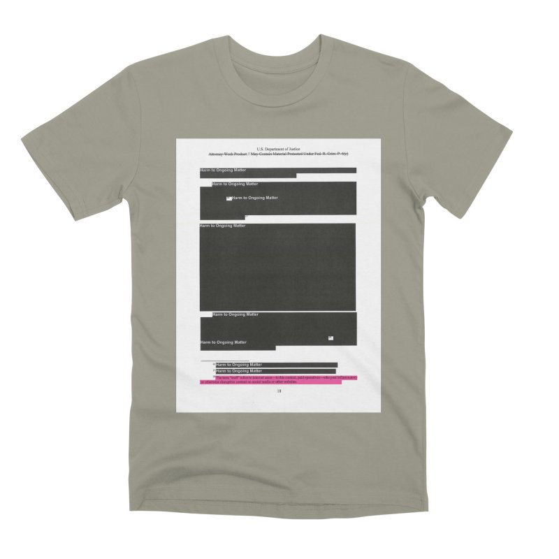 Redacted Mueller Report Page 18 Men's Premium T-Shirt by DRAWMARK