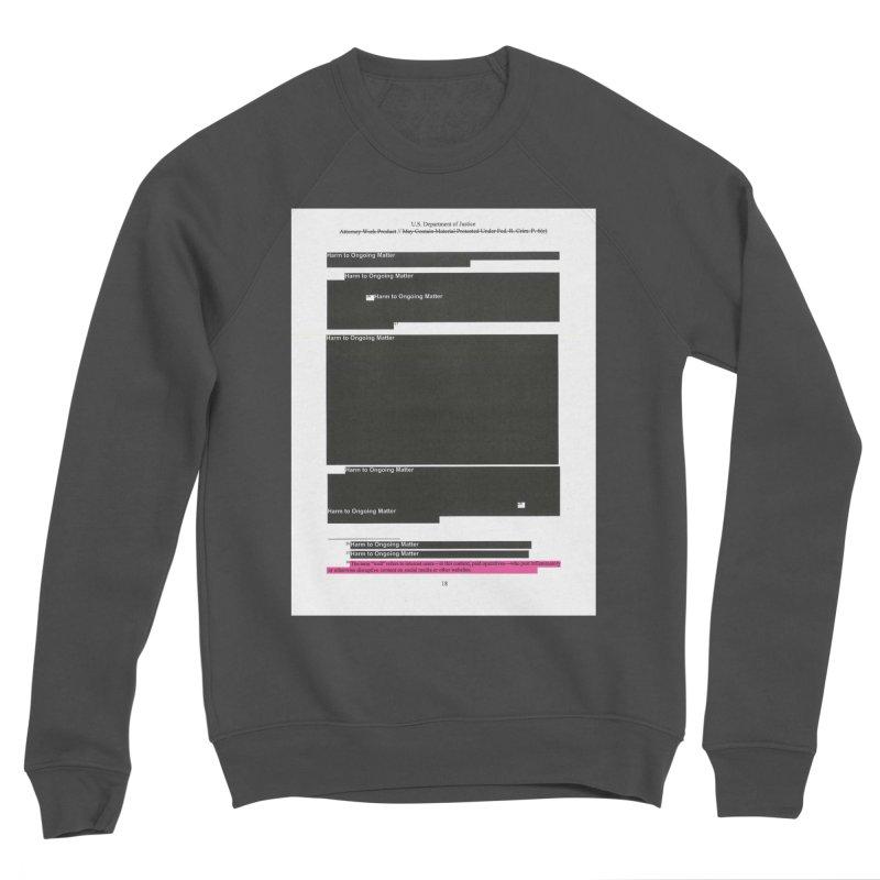 Redacted Mueller Report Page 18 Men's Sponge Fleece Sweatshirt by DRAWMARK