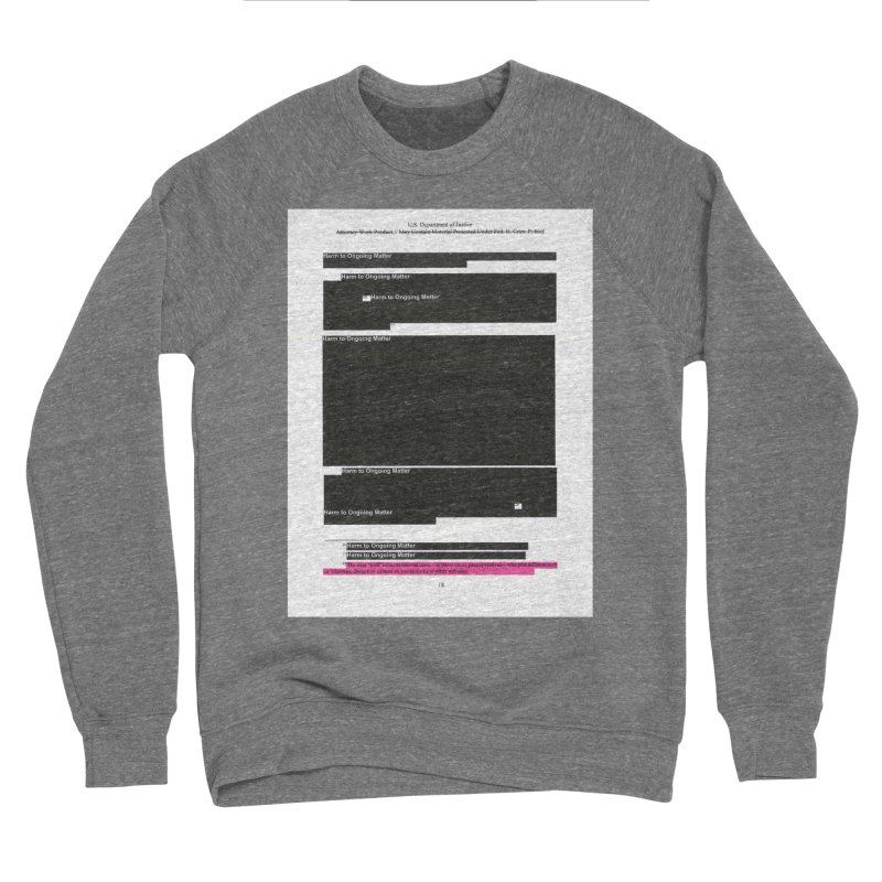 Redacted Mueller Report Page 18 Men's Sponge Fleece Sweatshirt by DRAWMARK