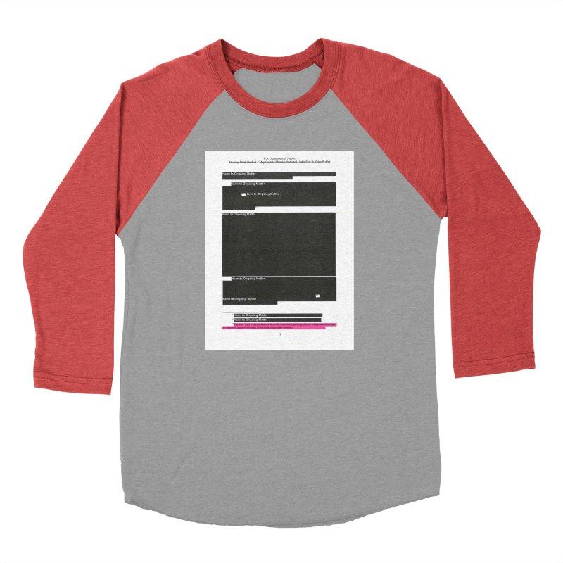 Redacted Mueller Report Page 18 Men's Longsleeve T-Shirt by DRAWMARK
