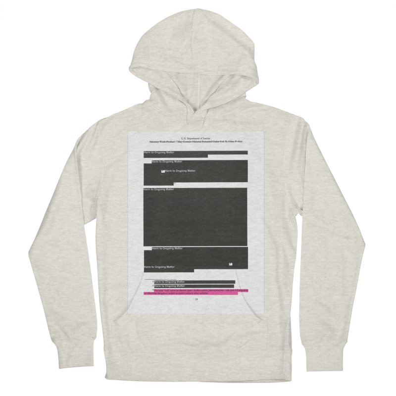 Redacted Mueller Report Page 18 Men's French Terry Pullover Hoody by DRAWMARK