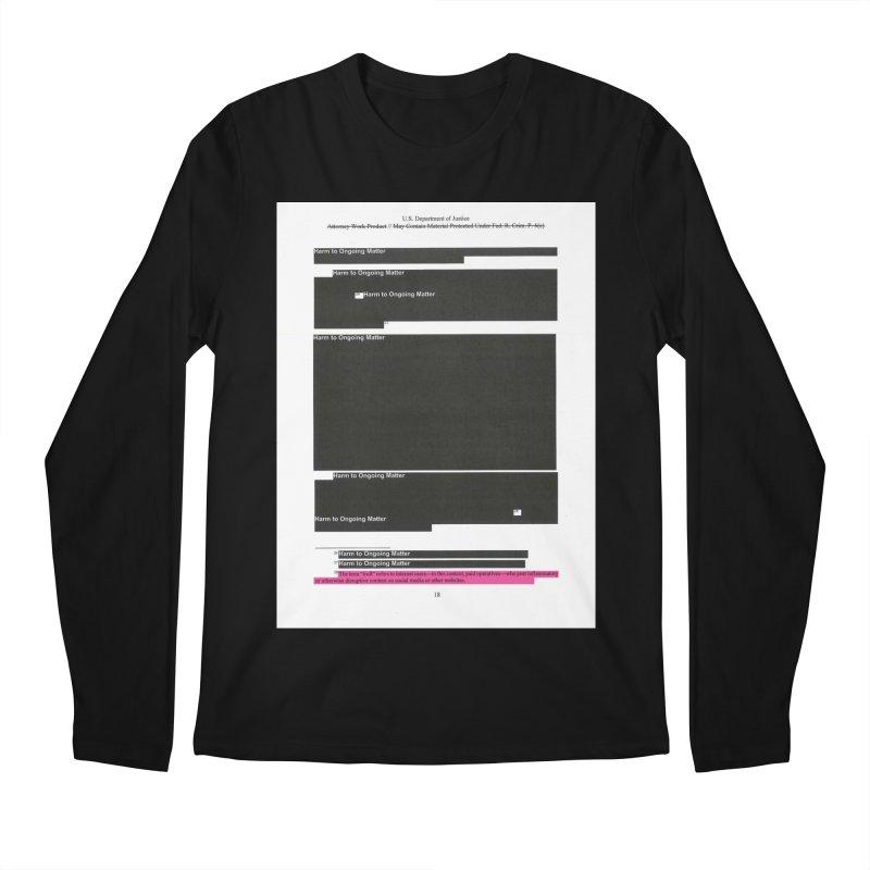 Redacted Mueller Report Page 18 Men's Regular Longsleeve T-Shirt by DRAWMARK