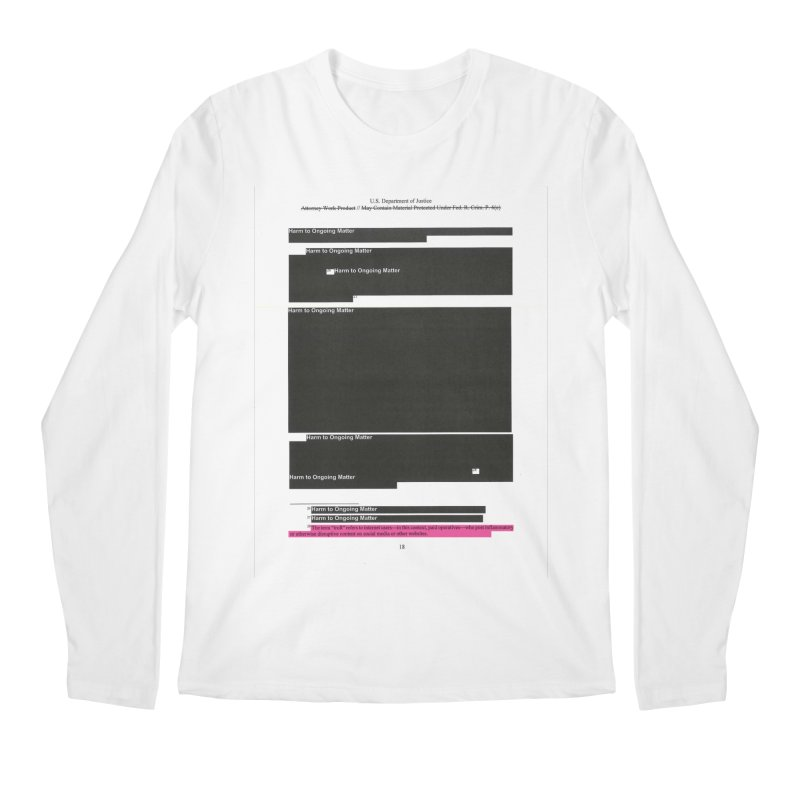 Redacted Mueller Report Page 18 Men's Regular Longsleeve T-Shirt by DRAWMARK