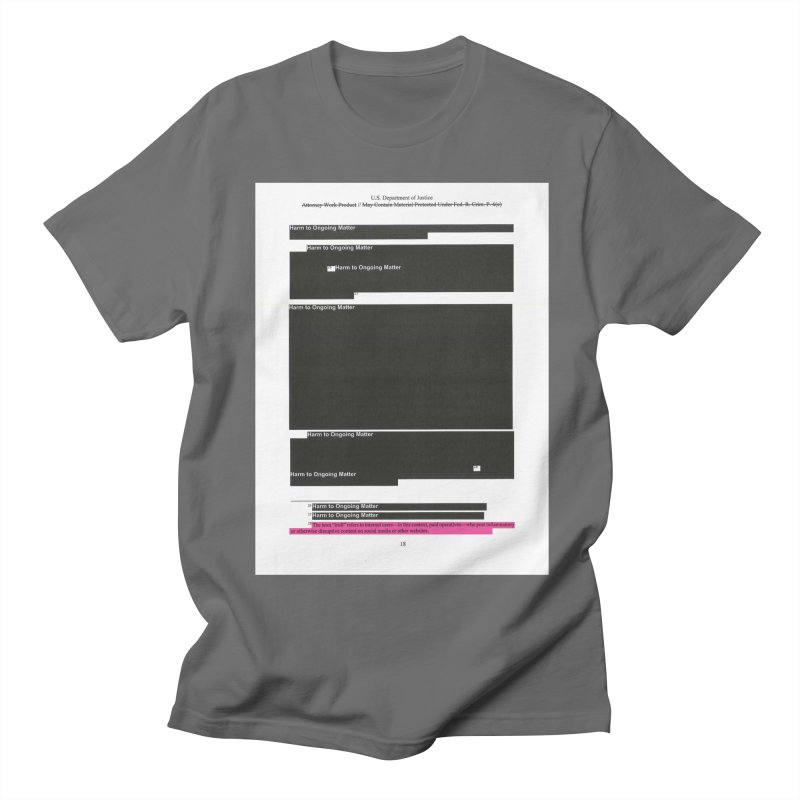 Redacted Mueller Report Page 18 Men's T-Shirt by DRAWMARK