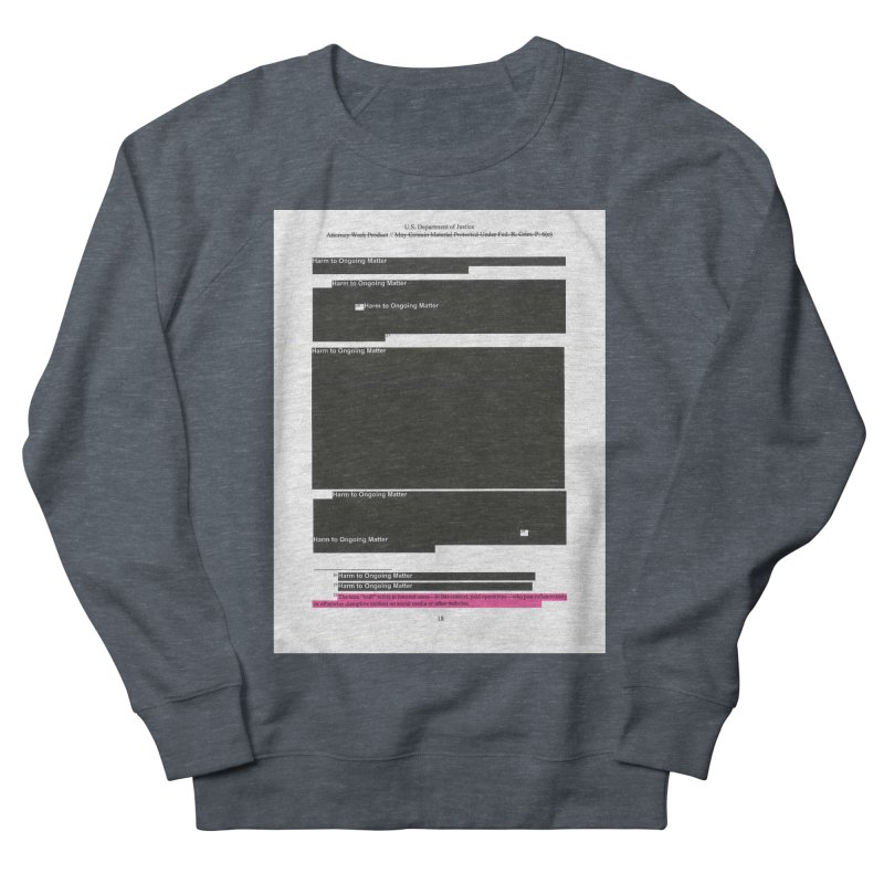 Redacted Mueller Report Page 18 Men's French Terry Sweatshirt by DRAWMARK