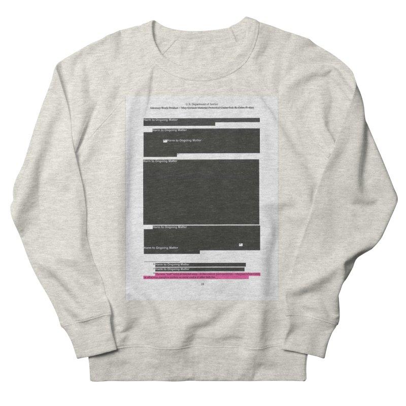 Redacted Mueller Report Page 18 Men's Sweatshirt by DRAWMARK