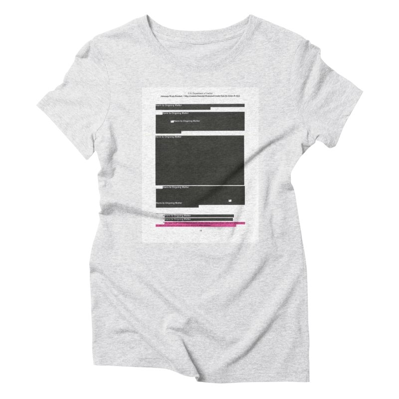 Redacted Mueller Report Page 18 Women's Triblend T-Shirt by DRAWMARK