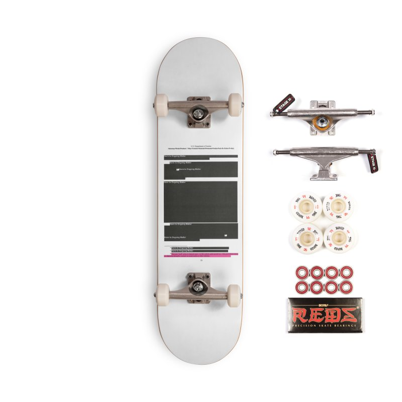 Redacted Mueller Report Page 18 Accessories Complete - Pro Skateboard by DRAWMARK