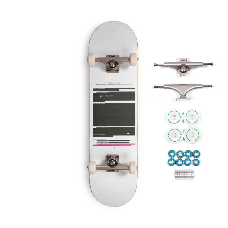 Redacted Mueller Report Page 18 Accessories Complete - Basic Skateboard by DRAWMARK