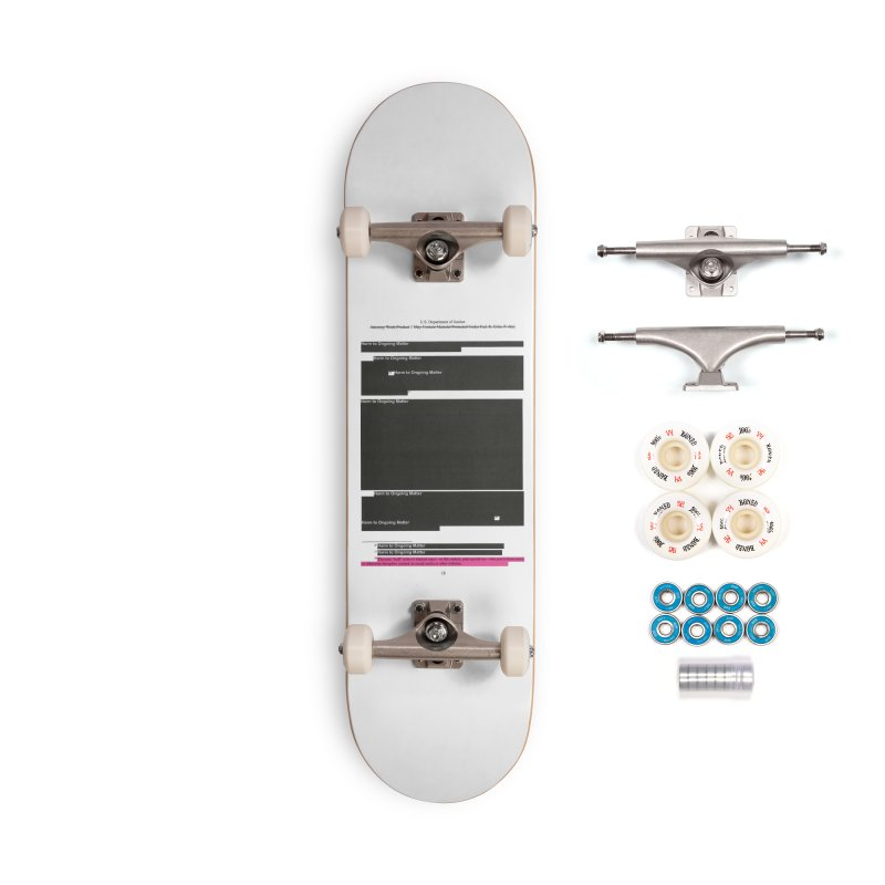 Redacted Mueller Report Page 18 Accessories Complete - Premium Skateboard by DRAWMARK