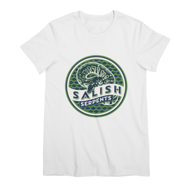 SALISH SERPENTS Women's Premium T-Shirt by Drawn to Scales